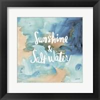 Coastal Breeze Quotes I Framed Print