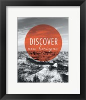 Discover New Horizons Framed Print