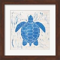 Framed Sea Creature Turtle Blue