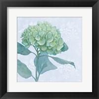 Framed Blue Hydrangea I Crop