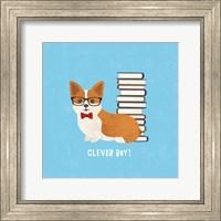 Framed Good Dogs Corgi Bright