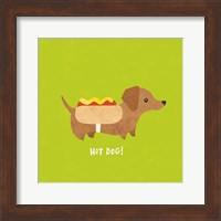 Framed Good Dogs Dachshund Bright