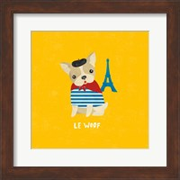 Framed Good Dogs French Bulldog Bright