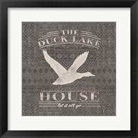 Soft Lodge II Dark Framed Print