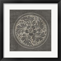 Framed Rosette II Gray