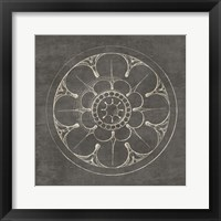 Framed Rosette III Gray