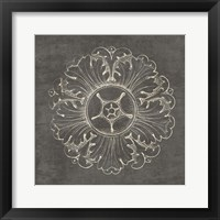 Framed Rosette VI Gray
