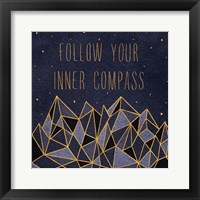 Written in the Stars III Framed Print