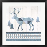 Framed Nordic Geo Lodge Deer IV