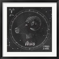 Night Sky Aries Framed Print