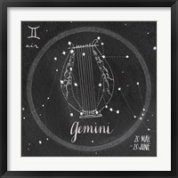 Night Sky Gemini Framed Print