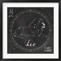 Night Sky Leo Framed Print