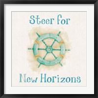 Framed New Horizons I Words