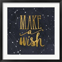 Starry Words I Gold Framed Print