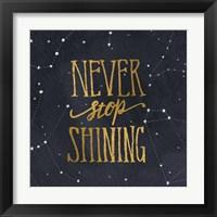 Framed Starry Words II Gold