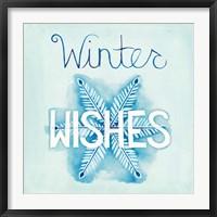 Snowflake Sayings II Framed Print