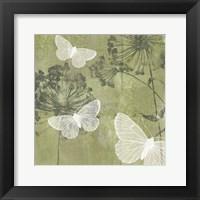 Framed Dandelion & Wings I