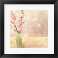 Vase of Cherry Blossoms I Framed Print