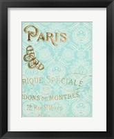 Paris in Gold I Framed Print