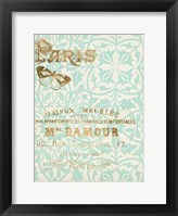 Paris in Gold IV Framed Print