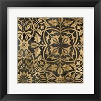 Golden Damask I Framed Print