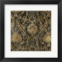 Framed Golden Damask II