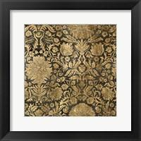 Golden Damask III Framed Print