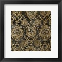 Golden Damask IV Framed Print