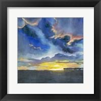 Vivid Sunset I Framed Print