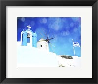 Framed Santorini I
