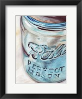 Framed Mason Jar I