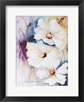 Blooms Aquas I Framed Print