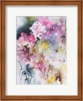 Framed Blooms Aquas III