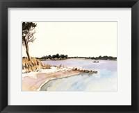 Framed Minimalist Coastline I