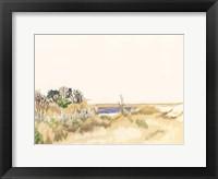 Minimalist Coastline III Framed Print