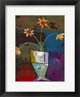 Framed Abstract Expressionist Flowers II