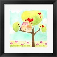 Hoots & Hearts II Framed Print