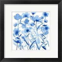 Cobalt Sway I Framed Print