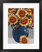 Framed Vase of Sunflowers I