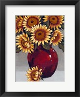 Vase of Sunflowers II Framed Print