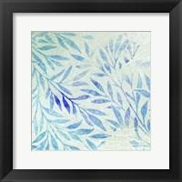 Framed Cerulean Foliage II