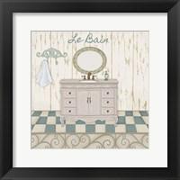 Bain Bleu II Framed Print