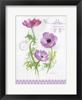 Flower Study on Lace I Framed Print