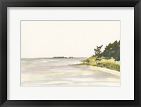 Solitary Coastline I Framed Print
