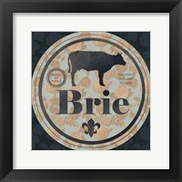 Cheese Label I Framed Print