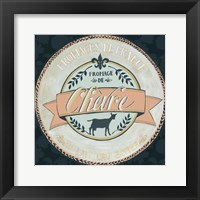 Cheese Label II Framed Print