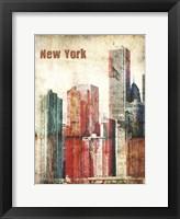 New York Grunge III Framed Print