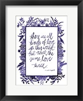 Framed Love Quote IV