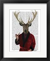 Framed Deer in Smoking Jacket