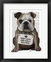 Framed Hug a Bulldog
